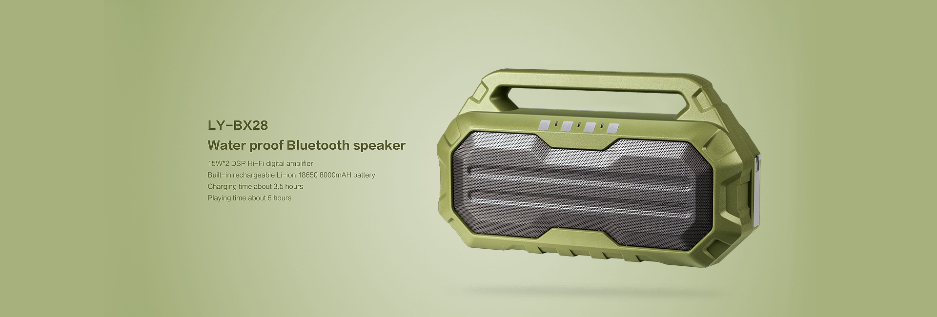 LY-BX28  Water proof Bluetooth speaker